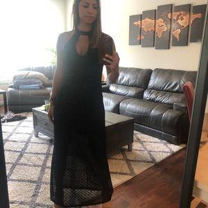 🖤Like NEW Design Lab L&T Black Maxi Slit Dress